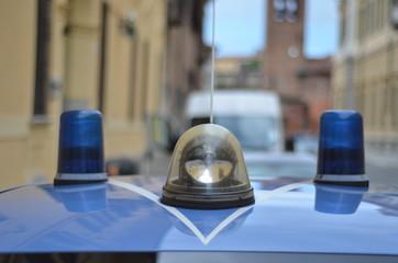 lampeggianti della polizia