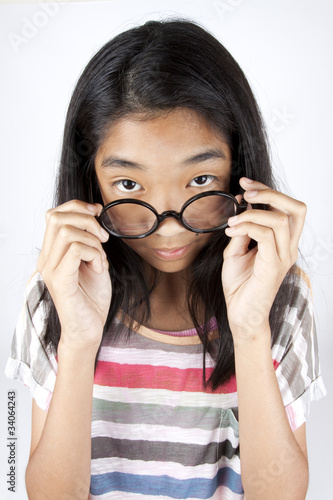 Asian girl nerd glasses pics