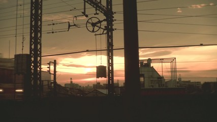 夕方の電車