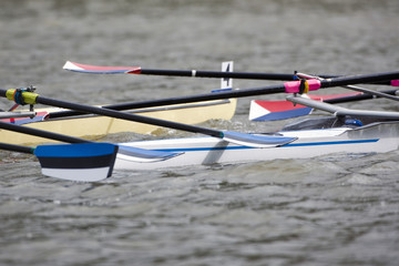 Rowing boat collision