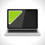 Vector laptop with sticker