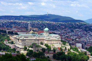Buda Castle is the historical castle complex of the Hungarian ki