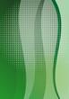 hellgrüner Hintergrund Briefpapier Wellen