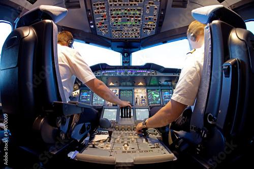 Deurstickers Vliegtuig Cockpit