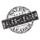 Sales leader grunge rubber stamp