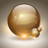 Abstract background with glass balls.