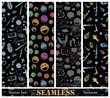 Vector set of stylish seamless textures.
