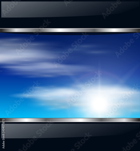 Abstract background with blue sky.