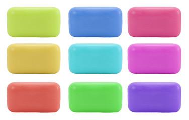 Different colors soap