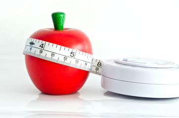Measure around the waist line measure the apple