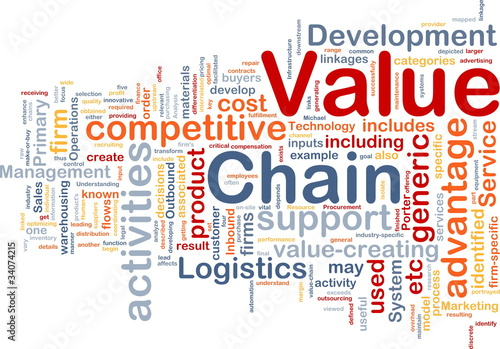 Value chain background concept