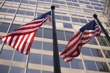 Flags in Manhattan