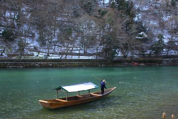 冬の保津川
