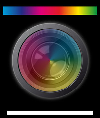 camera lens with spectrum effect