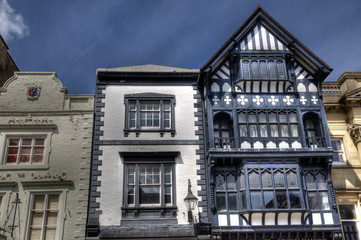 Buildings in Chester, England.