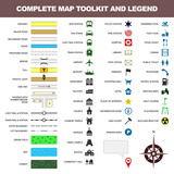 map icon legend symbol sign toolkit element poster