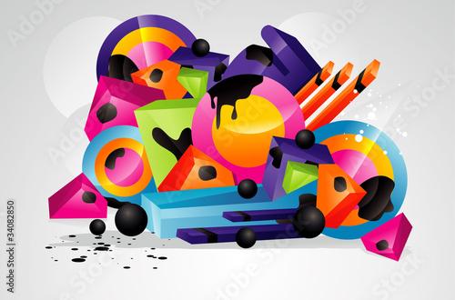 composicion abstracta en vector © ighost