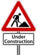 Under Construction Schild Baustelle Seite im Aufbau