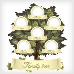 Family tree. Vector illustration.