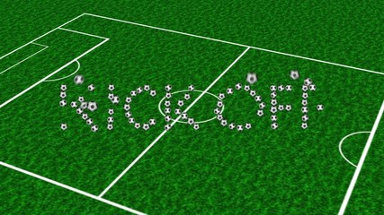 soccer  football kickoff animation incle blacBG&alpha