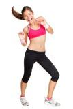 fitness woman dancing - 34087251