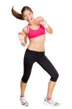Femme de fitness danse