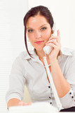 Professional businesswoman attractive calling