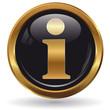 Information - Button gold