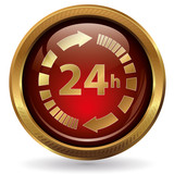 24h - Button gold rot