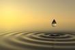 Zen drop falls into the water