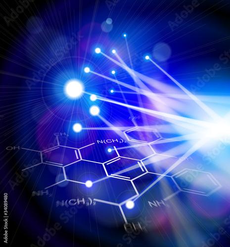 Chemical formulas & fiber optic light
