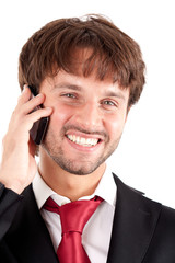 Businessman using a cell phone