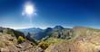 Panorama sur montagnes réunionnaises