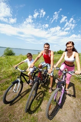 Family of bicyclists