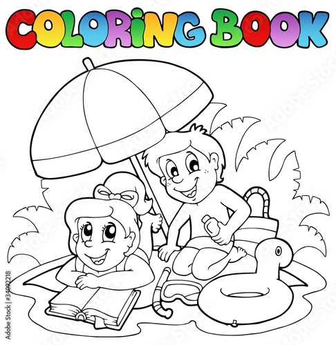 Coloring book with summer theme 2