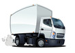 vector cartoon delivery / cargo truck - 34093418