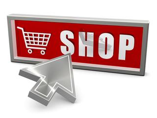Shop - Einkaufswagen - Pfeil