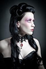 Portrait einer dunklen Schönheit