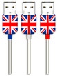set of uk usb isolated on white background