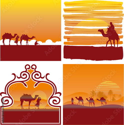 desert vector labels