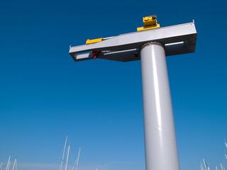 Boat lifter crane horizontal image