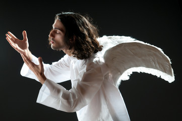 Religious concept with angel