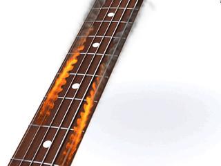 corde chitarra in fiamme