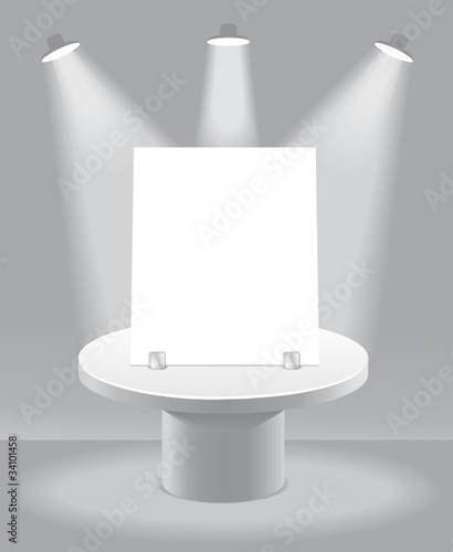 Abstract background with podium for presentation.
