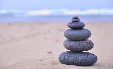 Terapia con piedras.