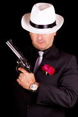 black suit gangster