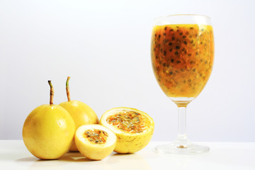 Passion fruit juice.