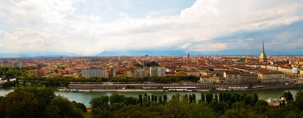 vista panoramica di Torino, tre foto in una