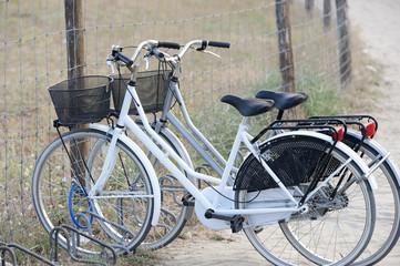 Biciclette in spiaggia