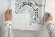 Sketch plan of building construction